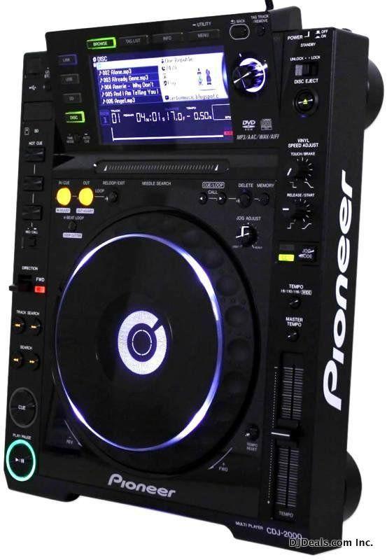 PIONEER CDJ-2000 CD PLAYER. #djculture #djgear #djtools http://www.pinterest.com/TheHitman14/dj-culture-vinyl-fantasy/