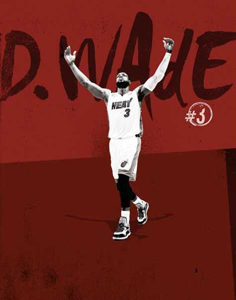 Dwyane Wade: Miami Heat Name Collection 2013-2014