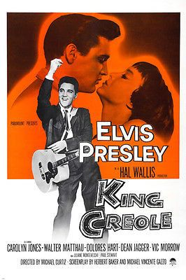 ELVIS PRESLEY king creole movie poster CAROLYN JONES dance music hot 24x36 Brand New. 24x36 inches. Will ship in a tube. Reproduction of aged original vintage art print. Great wall decor art print at