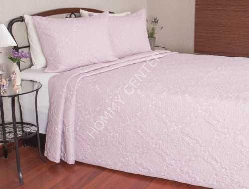 Begonville Lianna Pembe Yatak Örtüsü Çift Kişilik | Begonville | Yatak Setleri