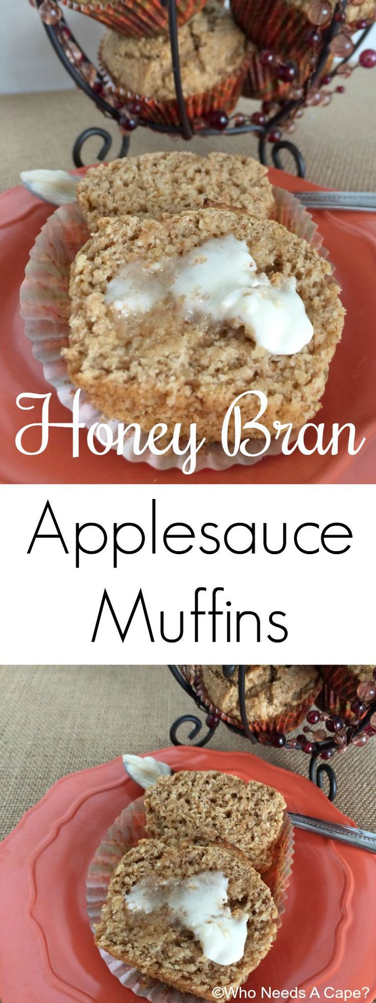 These Honey Bran Applesauce Muffins start with a Martha White® Muffin Mix. By simply adding applesauce and a touch of yogurt the results are delicious. #ad