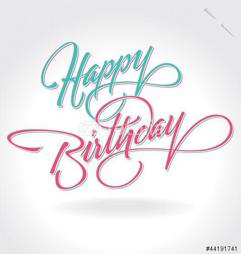 Vector: 'happy Birthday' Hand Lettering (vector