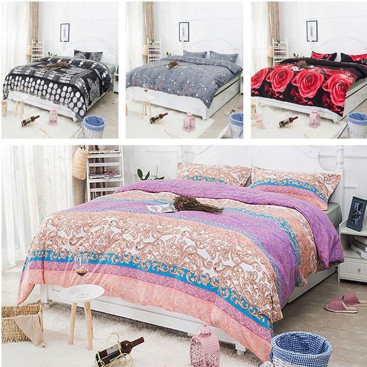 BN Cotton Queen US King Size Quilt Cover Duvet Cover  Pillow Case Bedding Set