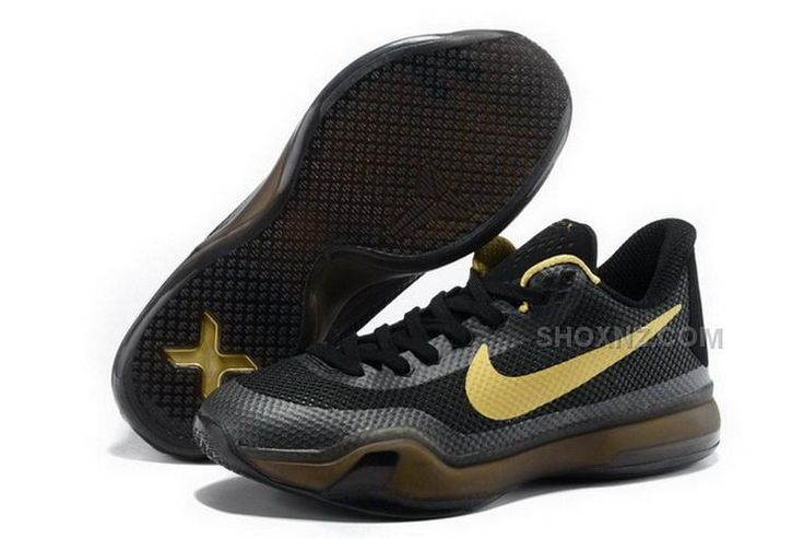 best website 38b7a d7aea Buy Buy Cheap Nike Kobe 10 2015 Black Gold Mens Shoes from Reliable Buy  Cheap Nike