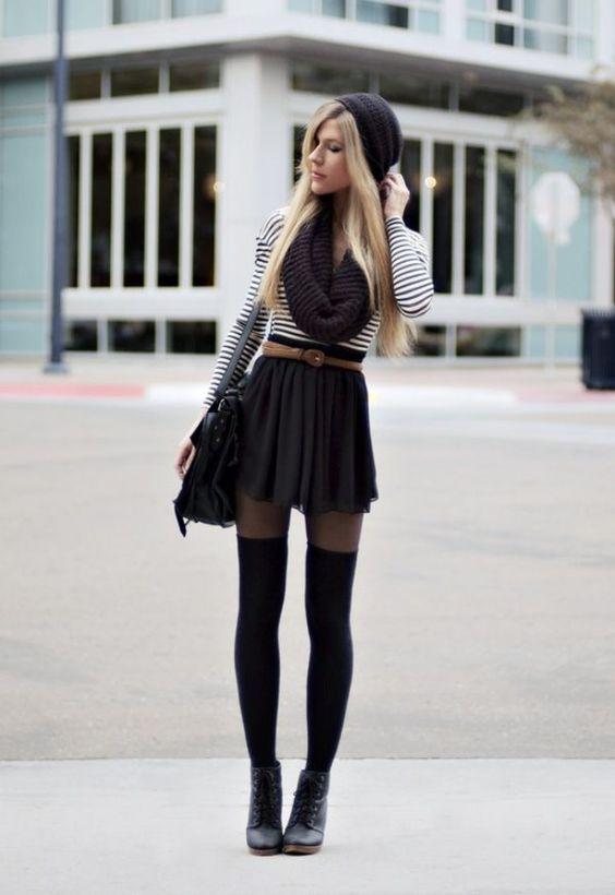 61f70d48e84 Comment porter les collants cet hiver 20+ meilleures tenues