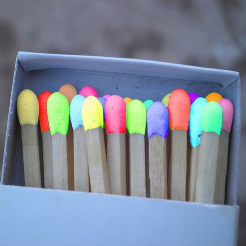 we only use multi colored matches