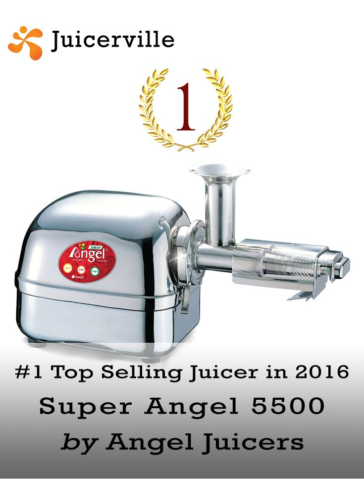 The top selling juicer of 2016 was Super Angel 5500. This stainless steel dream machine has been the #1 choice of juicing diehards for years and years.