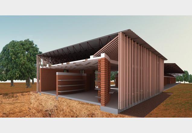 Primary school library in Gando by Kéré Architects
