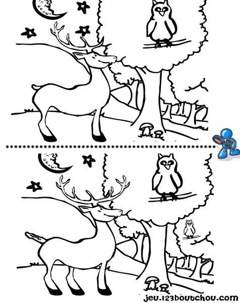 Jeux des 7 différences ' animaux ' gratuits à imprimer pour enfants - jeux des 5 différences - activite.assistante-maternelle.biz