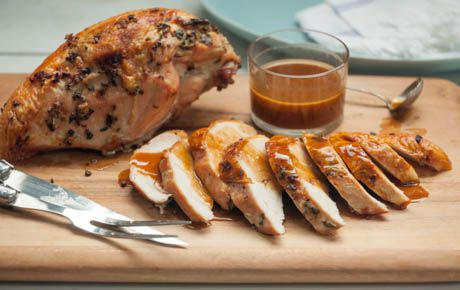 roasted turkey herbs herbes de provence turkey breast bourbon dry ...