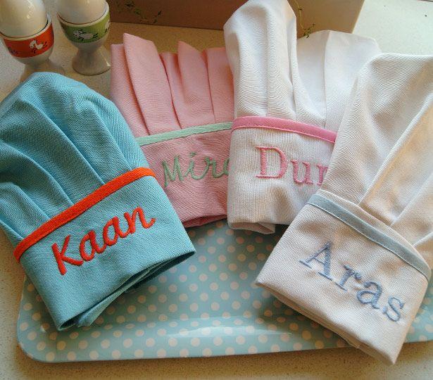 Ufaklıklar için aşçı şapkaları, mutfakta yetenekli olabilirler :)