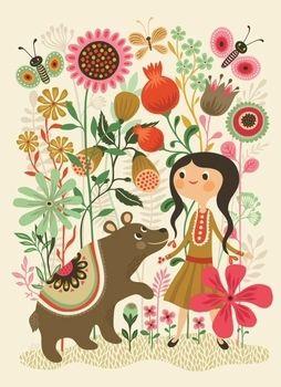 Helen Dardik poster Wild dream bear 50x70