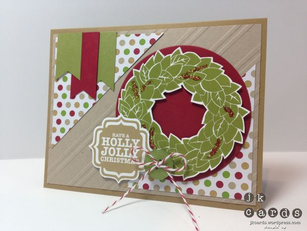 Stampin' Up!, Mojo 307, Wonderful Wreath, Tags 4 You, Season of Style DSP Stack, Circles Collection Framelits, Stylish Stripes Embossing Folder, Label Bracket Punch, Brights Designer Buttons, Cherry Cobbler Bakers Twine, Cherry Cobbler Dazzling Details