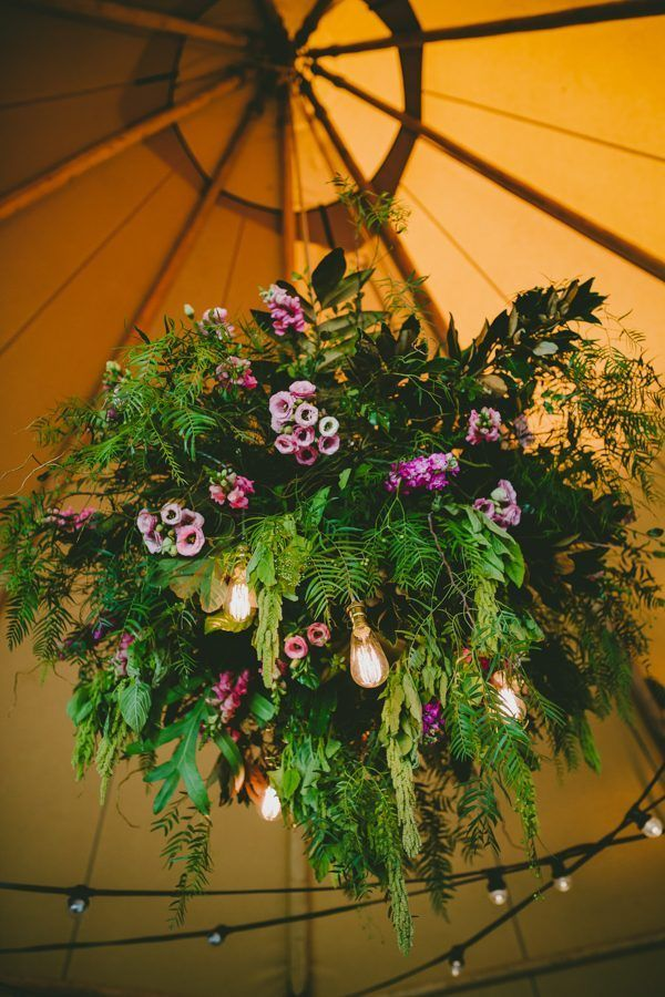 Lush hanging floral installation | Image by Bonnie Jenkins
