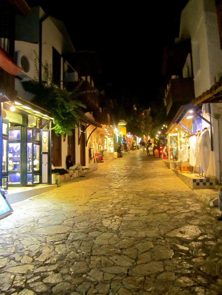 Kas at night, Turkey