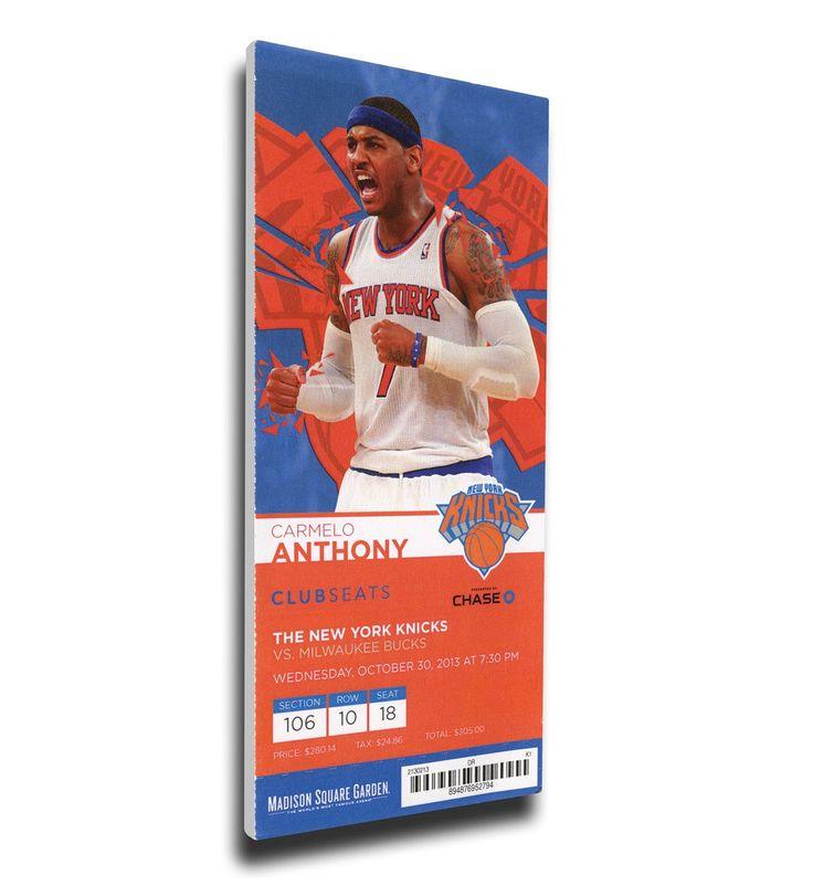 New York Knicks Wall Art - Carmelo Anthony Canvas Mega Ticket