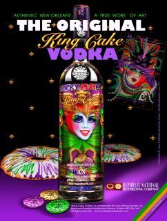 King cake vodka mardigras party mardigrasparty mardi gras