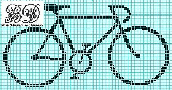 Free bike cross stitch pattern and other transportation-themed freebies (cars, VW van, VW bug, etc)
