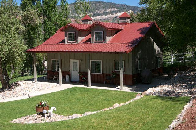 American Classics Metal Building Cabin W Porch Dormers