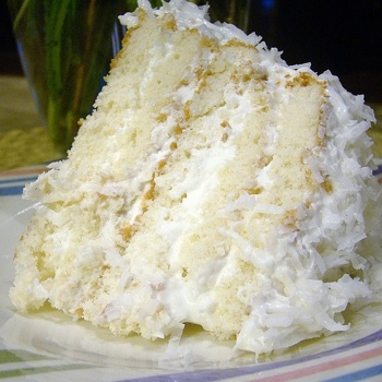 Easy Refrigerator Coconut Cake. This recipe calls for a cake mix and cool whip which I don't use personally.  But it sure sounds delicious!!  I can make a basic white cake and real whipped cream easily which will make it even more awesome. :)