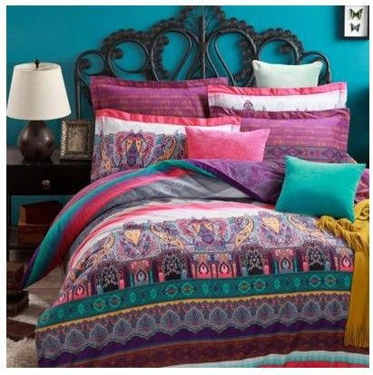 1000 ideas about blue purple bedroom on pinterest - Pink and purple bedding queen ...