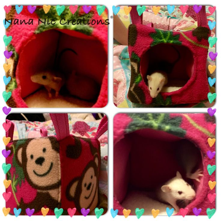 Rat Cube fleece lined and wadding stuffed with a sheepskin floor makes this extra cosy for all small rodents