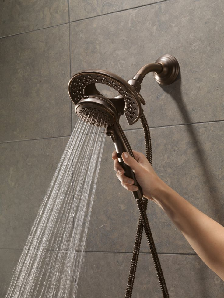Built-in shower head and removable shower head - Perfect for aging in place & universal design. A built-in shower head increases safety and convenience for the older adult.