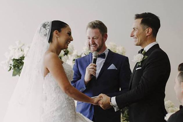 Paul and Sahar at The Ivy - Stephen Lee Young Male Sydney Marriage Celebrant