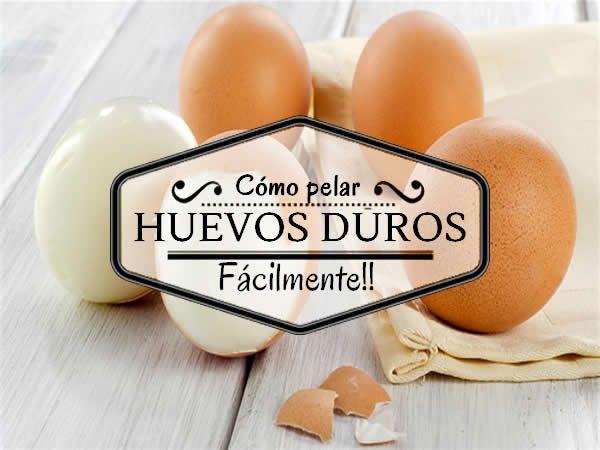 Cómo pelar huevos duros