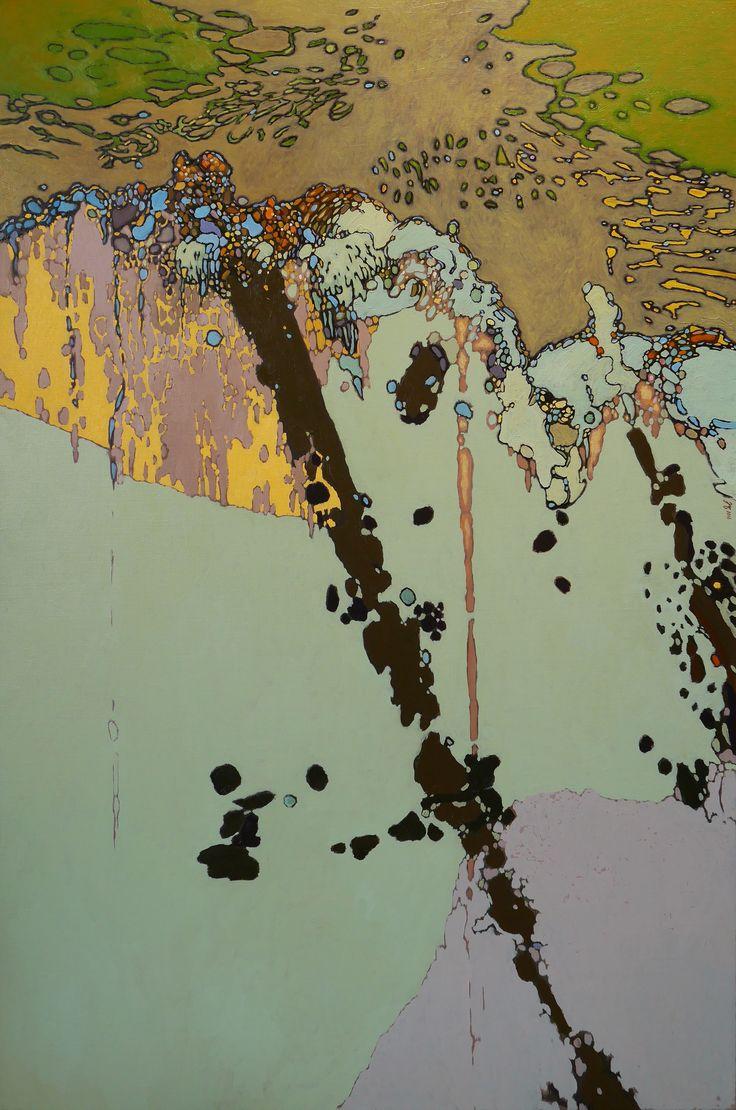 Variation Sur Les Reflets, 2016 by Jean-Marc-Emmanuel Gaillard.  Oil on canvas. Offered by Galerie Bruno Massa.