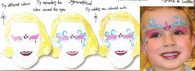 Video Tutorial Esempi Corso Face Painting Trucco Bimbo Make up online Maschera Carnevale Halloween: Esempi Face Painting come fare la Principessa