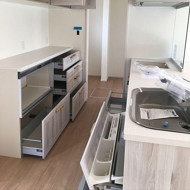キッチン らくパッと収納 リクシル リシェルsiのインテリア実例 2017 04 06 21 14 55 Roomclip ルームクリップ 収納 リクシル リシェルsi リクシル