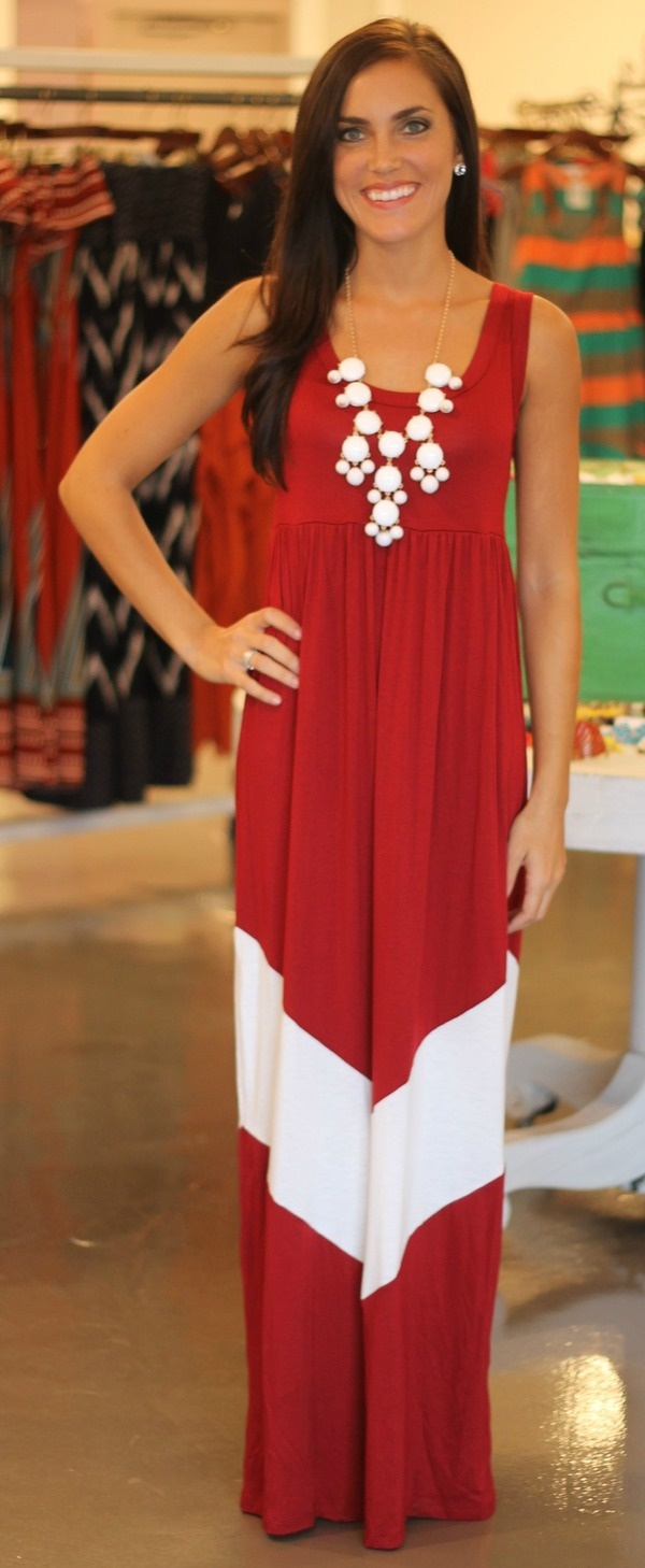 lottiedottie | Crimson Chevron dress