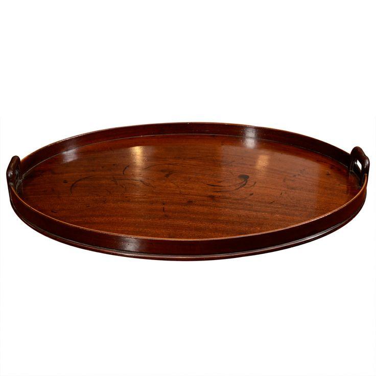 18th Century Georgian Mahogany Oval Tray | O' Sullivan 1stdibs.com