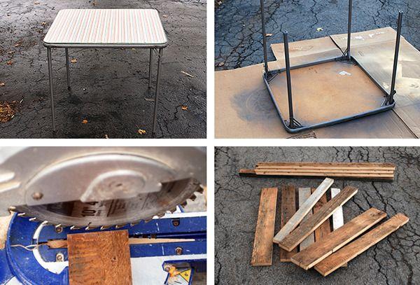 1º-Antes y después: Un 'sobre' de mesa de madera reciclada Tabla Diseño »Curbly | DIY Design Community