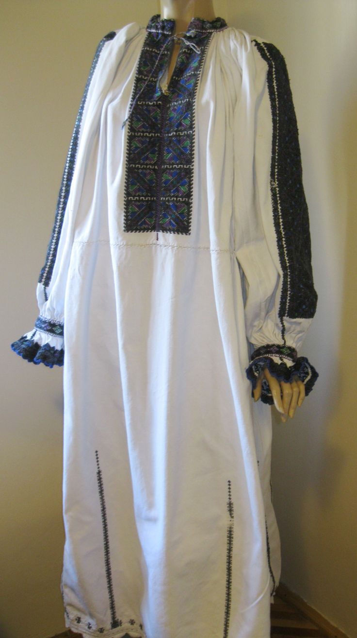 Antique gorgeous Romanian costume dress from Transylvania available at www.greatblouses.com