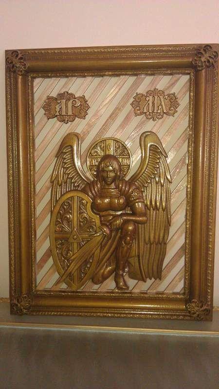 Икона деревянная , резная архангел михаил - Аметист НПК, ООО Свердловск (Украина) - купить, цена, фото