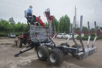 Timber Crane Trailers for Tractor