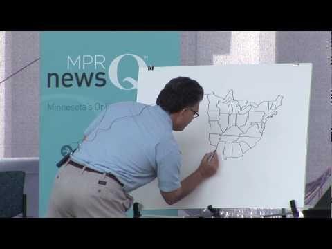 Senator Al Franken Draws Map Of U.S. ~ From Memory (1:22)