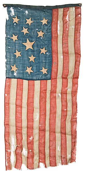 13-Star American Flag With Blood Stripe - Cowan's Auctions