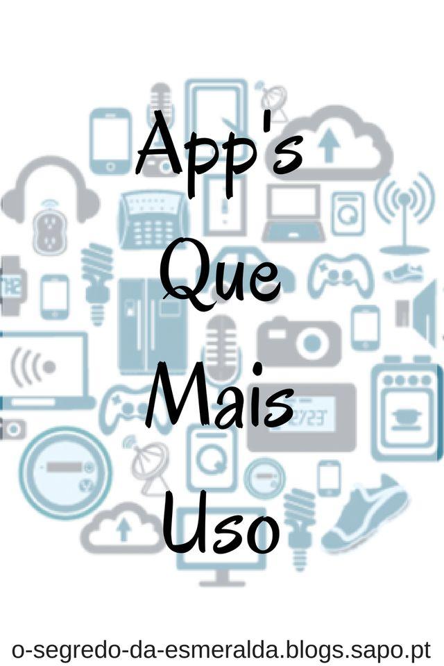 Olá Esmeraldas. Hoje vou falar sobre as app's que mais uso. Procurei os links para ANDROID e IOS. Redes SociasInstagram (android | ios) Snapchat (android | ios) Facebook (android | ios) Twiter (android | ios) Whatsapp (android | ios) Fotografia...