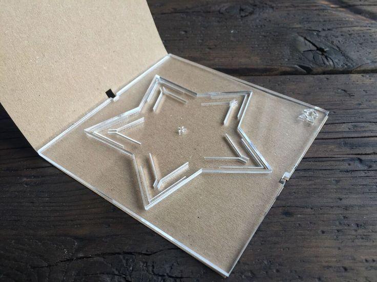 Lasercut plexiglass christmas ornaments, designed and produced in Copenhagen.