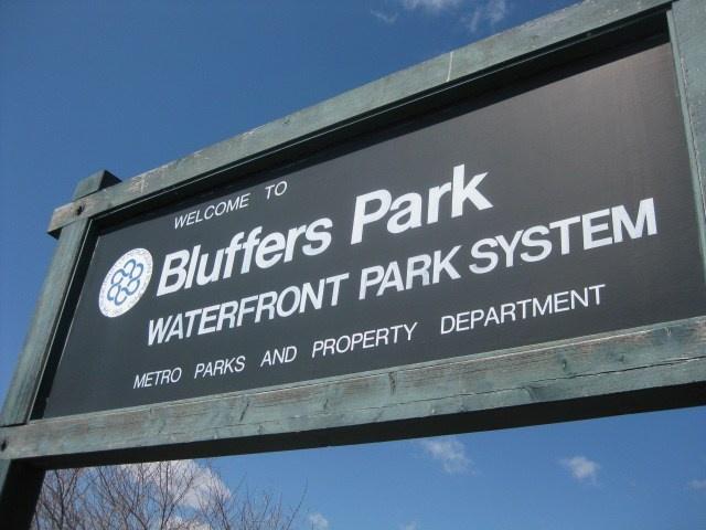 Bluffers Park sign, Scarborough Bluffs, Toronto