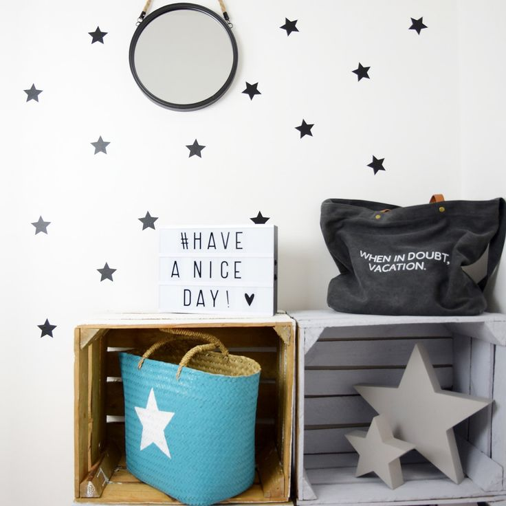 Star Wall Decal -Set of 50- Stars Wall Decals, Wall Decals, Star Decal, Star Stickers, Nursery Wall Decal, Wall Stickers, Pattern Decal by MamaPotrafi on Etsy