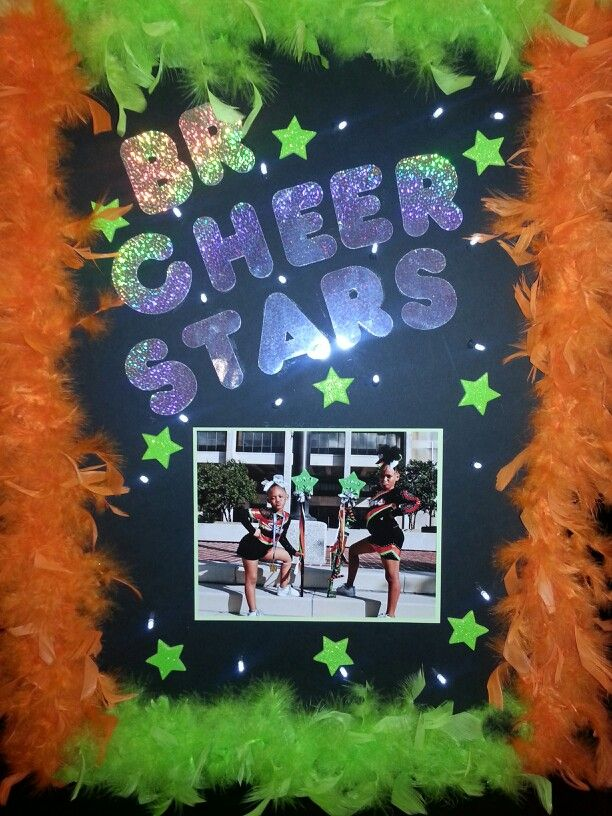 Cheer spirit poster with lights