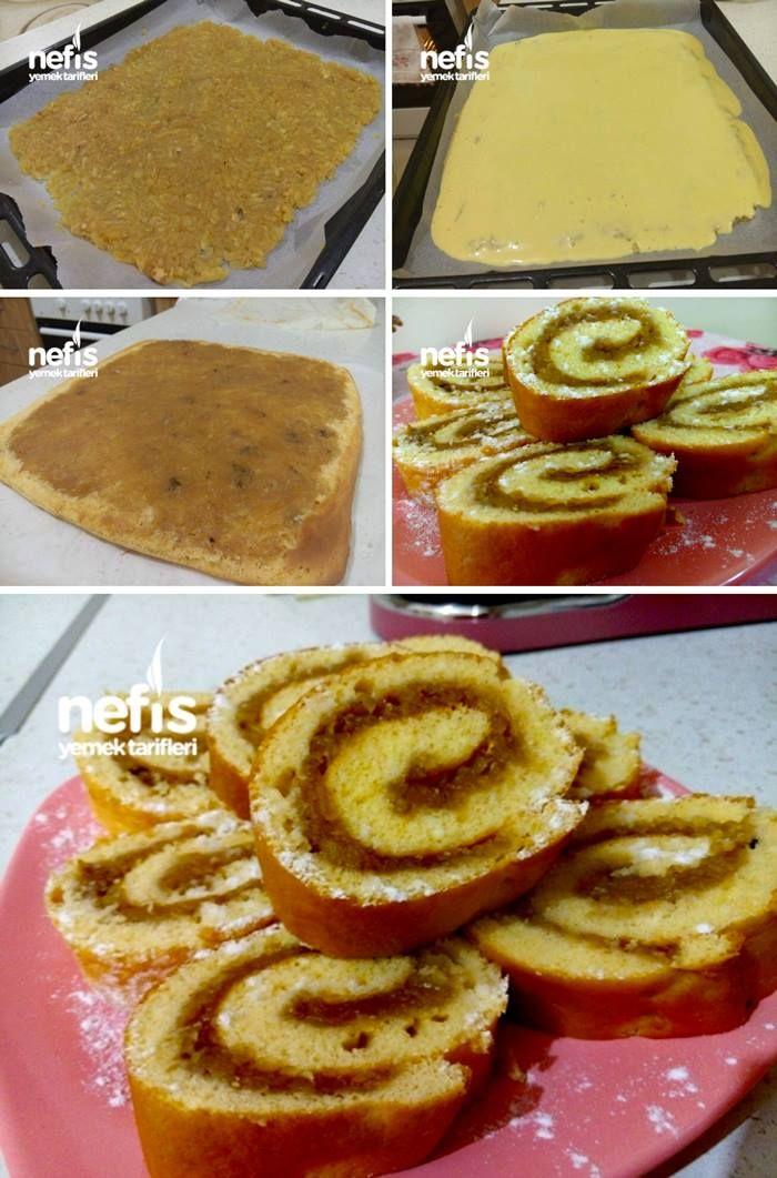 Elmalı Rulo Pasta Tarifi nasıl yapılır? 4.550 kişinin defterindeki Elmalı Rulo Pasta Tarifi'nin resimli anlatımı ve deneyenlerin fotoğrafları burada. Yazar: Nefis tariflerim