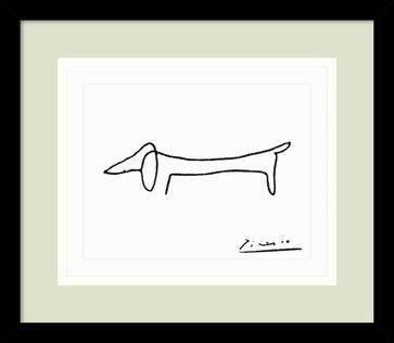 Le Chien (The Dog) Framed Print by Pablo Picasso - traditional - Prints And Posters - Amanti Art