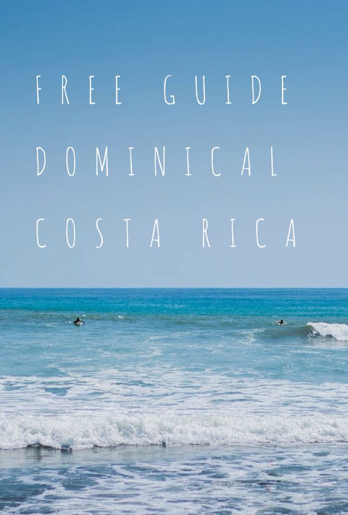Enjoy a Free Guide with lodging, restaurants, activities and tips for Dominical Beach in Costa Rica
