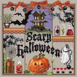 "Madame la fée - ""Scary Halloween"" 186 x 187 points"