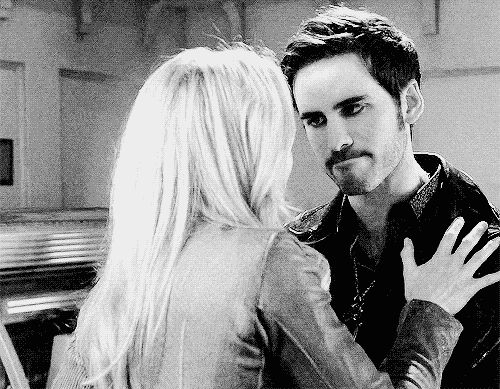 4.11- His face, reaction, everything. Emma returns his heart to his chest, after Rumple had taken it.